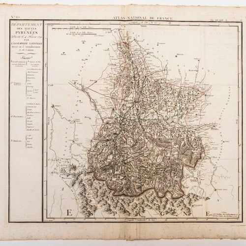 Map of the Department of the HIGH PYRENEES, decreed on February 4, 1790 by the N…