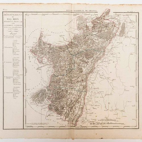 Map of the Department of the BAS RHIN, decreed on January 13, 1790 by the Nation…