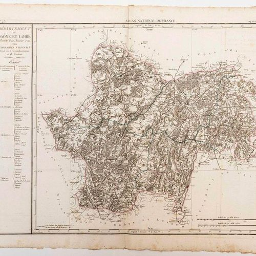 Map of the Department of SAÔNE ET LOIRE, decreed on 20 January 1790 by the Natio…