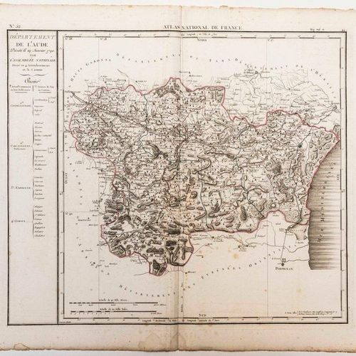 Map of the Department of AUDE, decreed on January 29, 1790 by the National Assem…