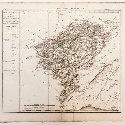 Map of the Department of DOUBS, decreed on February 5, 1790 by the National Asse…