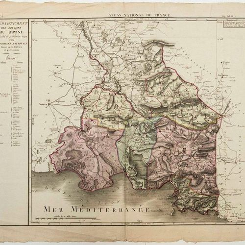 Map of the Department of BOUCHES DU RHÔNE, decreed on 9 February 1790 by the Nat…