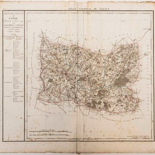 Map of the Department of OISE, decreed on February 7, 1790 by the National Assem…