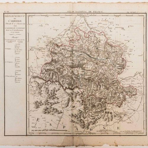 Map of the Department of ARIÈGE, decreed on January 27, 1790 by the National Ass…