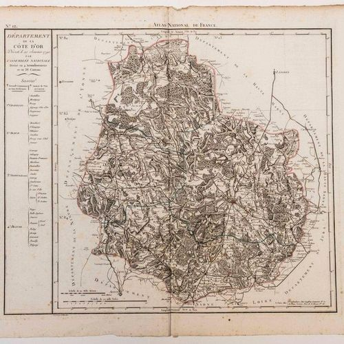 Map of the GOLDEN COAST Department. National Atlas of France, decreed on January…