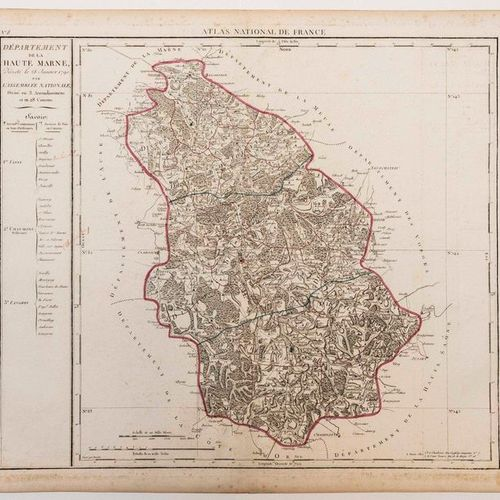 Map of the Department of HAUTE MARNE, decreed on 28 January 1790 by the National…
