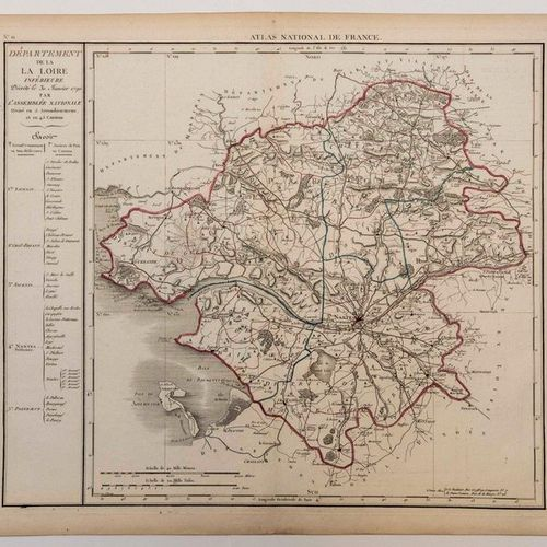 "Map of the ATLANTIC LOIRE. ""Map of the Department of LOIRE INFERRIEURE, decreed …"