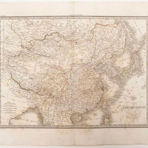 MAP OF THE CHINESE EMPIRE AND JAPAN, drawn up by Mr. LAPIE Lieutenant Colonel.Pa…