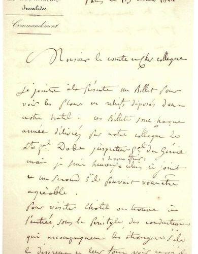 (PLANS RELIEFS DES INVALIDES.) Général d'Empire Baron PETIT (Jean Martin) 1772 1…