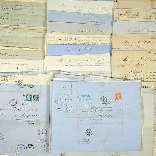 (MAINE ET LOIRE. RUSSIA. MARINE WOOD.) 292 LETTERS addressed to MM. DES VARANNES…