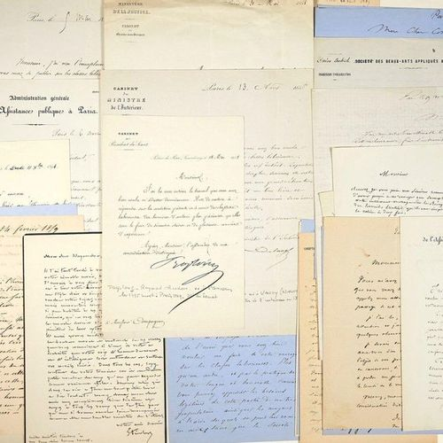 PARIS. Correspondence addressed to Mr COMPAGNON President of the CHAMBRE SYNDICA…
