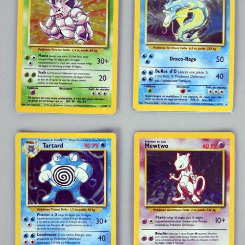 BLOC WIZARDS  Lot 4 cartes holo du Set de base en édition 2 (Leviator, Nidoking,…