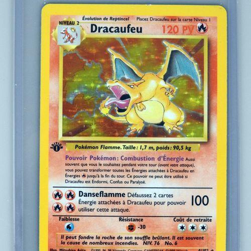 DRACAUFEU Ed 1  Bloc Wizards Set de base 4/102  Carte Pokemon très bel état