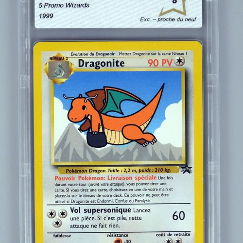 DRAGONITE Promo  Bloc Wizards 5  Carte pokémon notée PCA 8