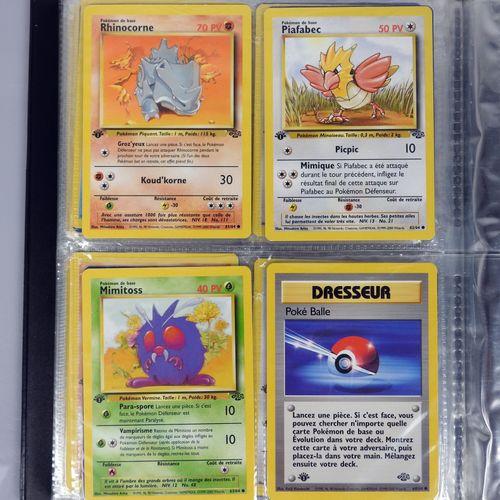 JUNGLE  巫师街区  完整的扩展收藏,2版的光环或稀有卡,1版的大多数普通卡,装在一个夹子里  状况非常好或极好的神奇宝贝卡片