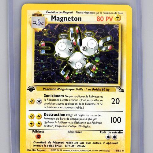 MAGNETON Ed 1  Bloc Wizards Fossile 11/62  Carte pokémon en bon état