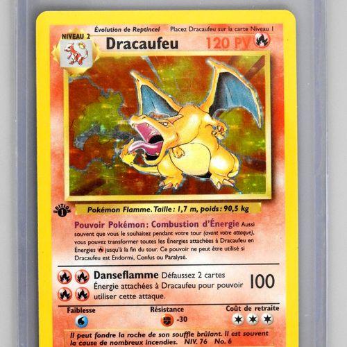DRACAUFEU Ed 1  Bloc Wizards Set de base 4/102  Carte pokémon en superbe état