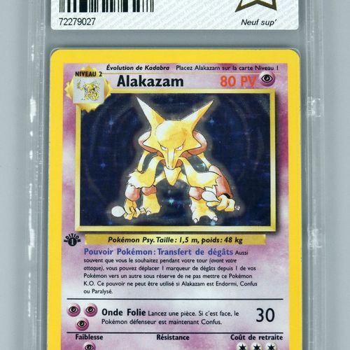 ALAKAZAM Ed 1 Bloc Wizards Set de base 1/102 Carte pokémon notée PCA 10/10
