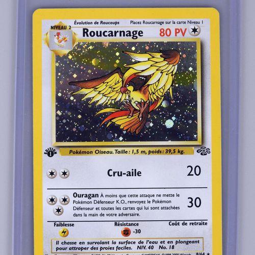 ROUCARNAGE Ed 1  Bloc Wizards Jungle 8/64  Carte pokémon en superbe état