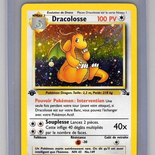 DRACOLOSSE Ed 1  Bloc Wizards Fossile 4/62  Carte Pokemon superbe