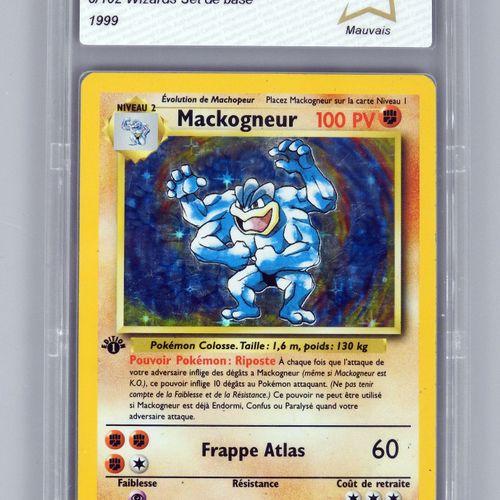 MACKOGNEUR Ed 1  Bloc Wizards Set de base 8/102  Carte pokémon notée PCA 2/10