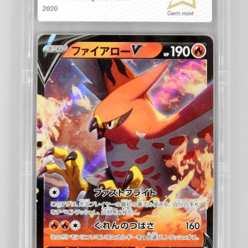 TALONFLAME V  Amazing Volt Tackle 16/100  Carte pokémon notée PCA 10/10