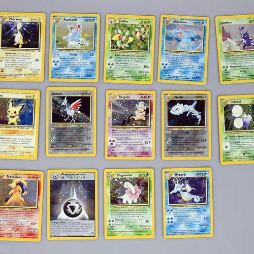 NEO GENESIS  Bloc Wizards  Fort lot comprenant 14 cartes rares holo, 5 cartes ra…