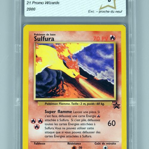 SULFURA Promo  Bloc Wizards 21  Carte pokémon notée PCA 8