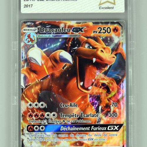 DRACAUFEU GX  Bloc Soleil et Lune Ombres Ardentes 20/147  Carte pokémon notée PC…
