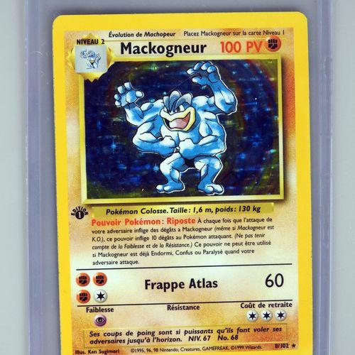MACKOGNEUR Ed 1  Bloc Wizards Set de base 8/102  Carte pokémon en très bon état