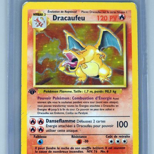 DRACAUFEU Ed 1  Bloc Wizards Set de base 4/012  Carte pokémon avec petits défaut…