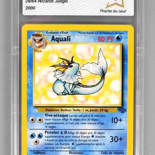 AQUALI  Bloc Wizards Jungle 9/64  Carte pokémon notée PCA 9/10