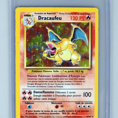 DRACAUFEU Ed 2  Bloc Wizards Set de base 4/102  Carte pokemon avec frottements