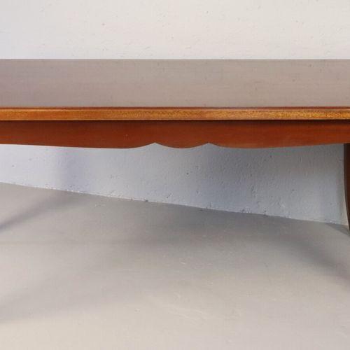 Léon et Maurice JALLOT, dans le goût de  Grande table rectangulaire en acajou et…