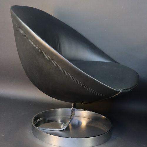 """Maurice CALKA (1921 1999) Alpha International (éditeur)  Paire de fauteuils """"KI""""…"""