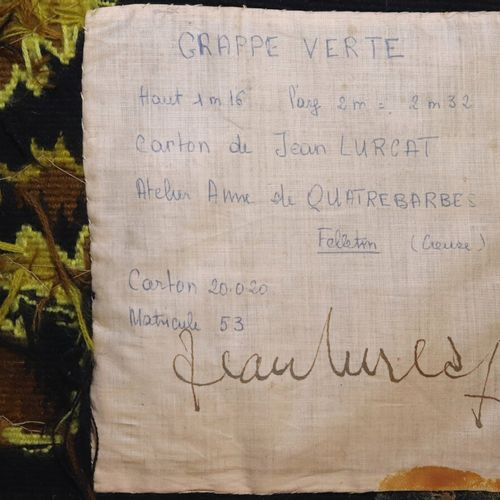 "Jean LURCAT (1892 1966) Ateliers Anne de QUATREBARBES, Felletin (Creuse)  ""Grapp…"