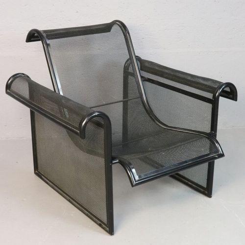 Ronald Cecil SPORTES (1943)  Fauteuil prototype en métal laqué noir  Vers 1980  …