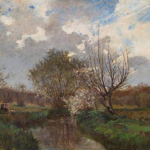 SCHOOL OF THE END OF THE XIXth BEGINNING XXth Painter on the motif on the river …