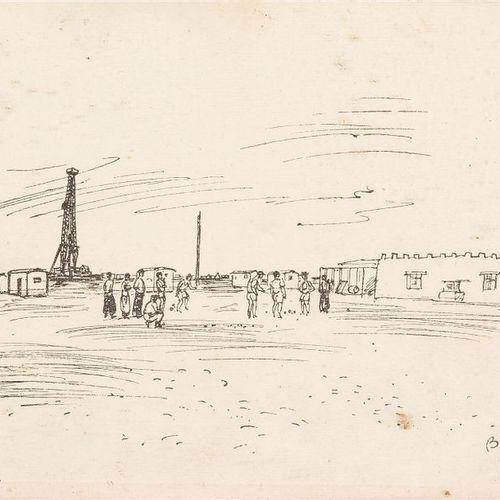 HENRI FABRE (1880 1950) Vue d'Alger Aquarelle, signée en bas à droite 30,5 x 47 …