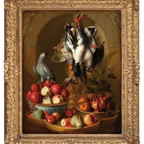 ALEXANDRE FRANÇOIS DESPORTES (1661 1743) Nature morte au trophée de gibier, fru…
