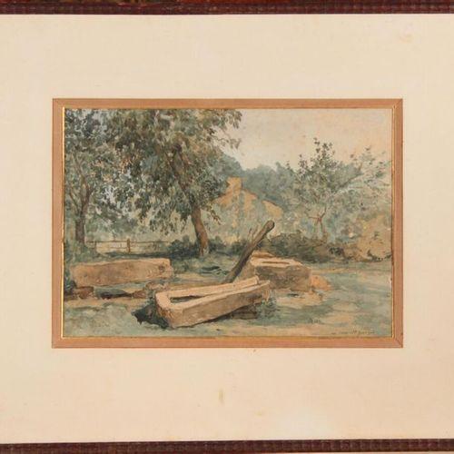 Léonce CHABRY (1832 1882) Au Coca Saint Georges (de Didonne), c.1875 1880. Water…