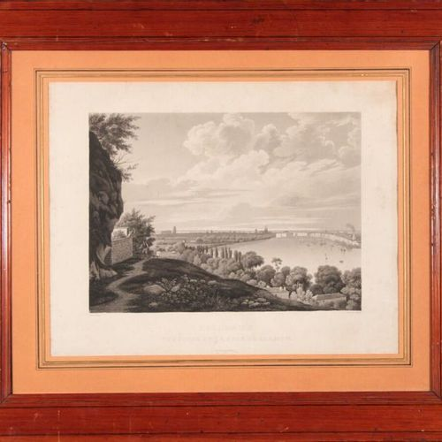 BORDEAUX View taken from the coast of Lormon (sic) Very rare engraving by Salath…