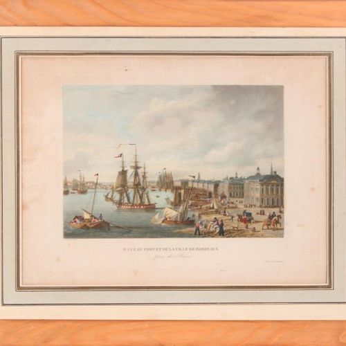 Louis GARNERAY (17831857) First view of the port and city of Bordeaux, from the …