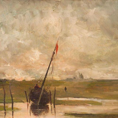 Emmanuel de SANTA COLOMA (1829 1886) Marine. Oil on canvas, signed lower left. 2…