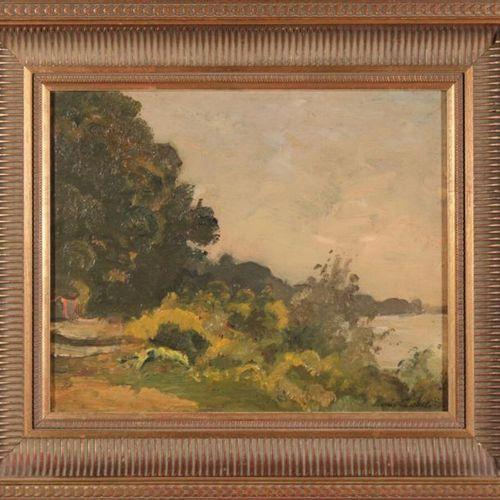 Louis Alexandre CABIÉ (1854 1939) Landscape in Esconac. Oil on panel signed lowe…
