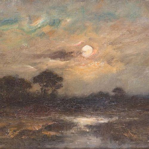 Alexandre Gaston GUIGNARD (18481922) Clair de lune. Oil on canvas, autographed a…