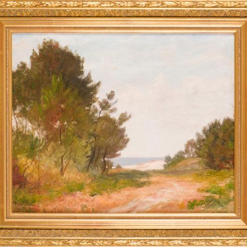 Paul SEBILLEAU (1847 1907) Soulac, 1904. Oil on canvas, signed lower left, locat…