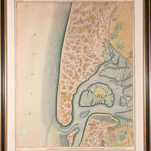 Pierre DE BELLEYME Map of the Bay of Arcachon. Extract from map N°25 of the grea…