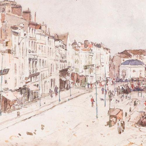 Louis Alexandre CABIÉ (1854 1939) The port of La Rochelle, 1892. Watercolour, lo…