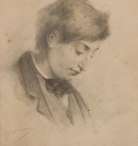 Claude Aimé dit Charles QUINSAC (1811 1879) Portrait of a young elegant man. Cha…